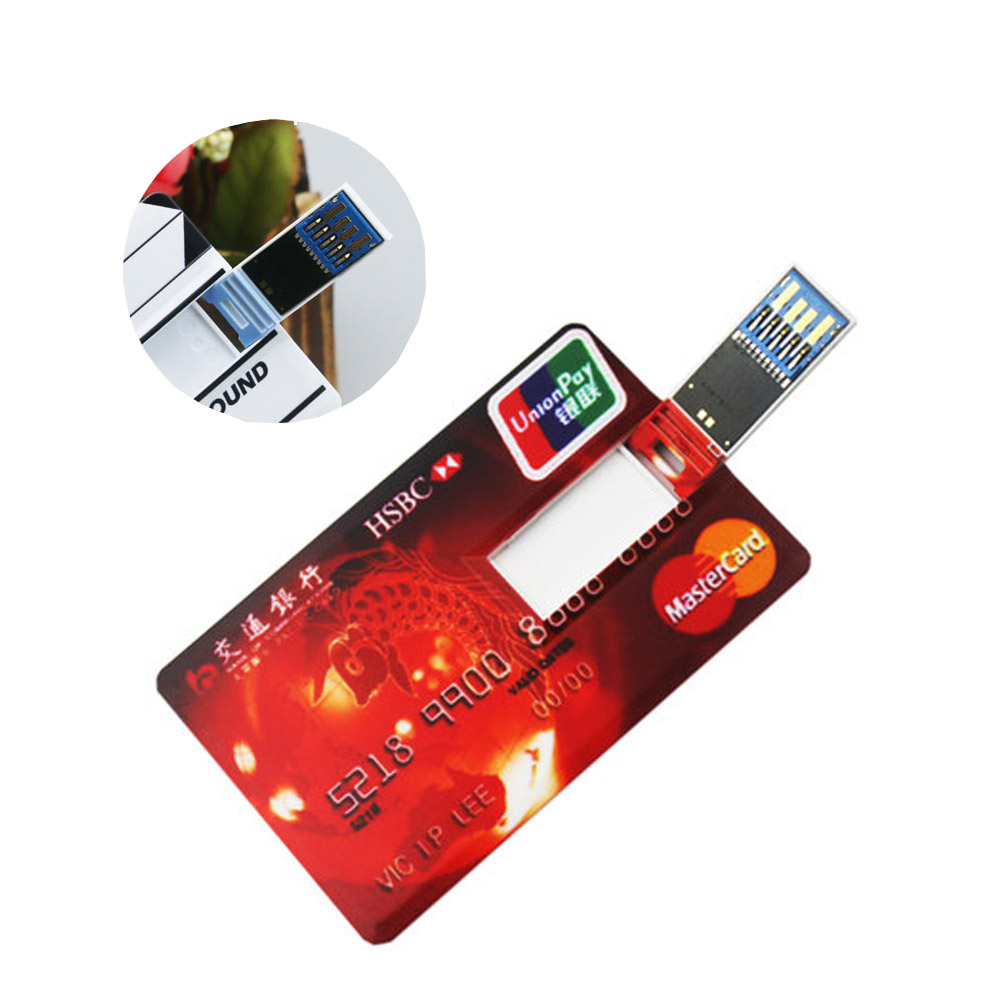 Flip Credit Card USB 3.0 Flash Drive Paypal Accept