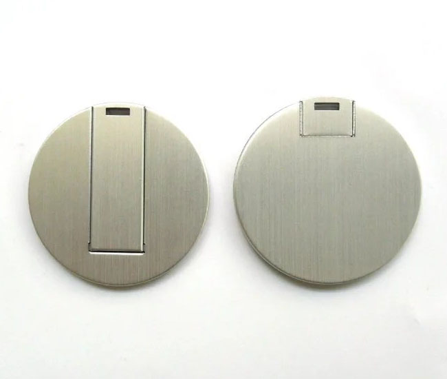 Cheap metal round card usb for promotional thumb drive pendrive reheart Gallery