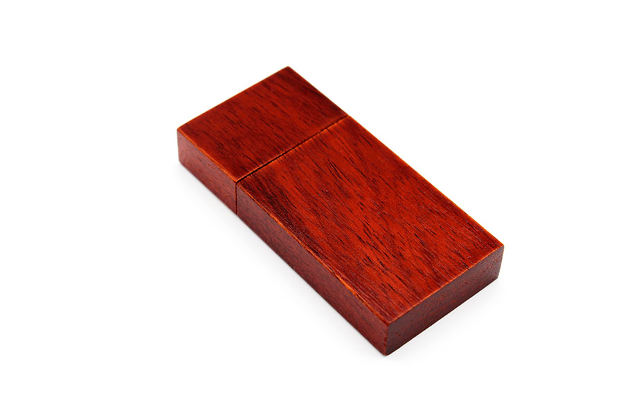 Rectangle Red Wood 512MB USB Flash Drive Deal Engraved Logo