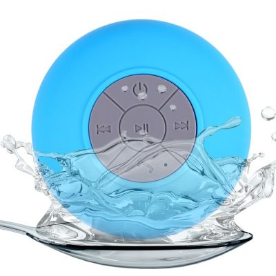 Wireless Stereo Shockproof Shower Waterproof Bluetooth Mini Speaker With Suction Cup For Bathroom Car Outdoor Use